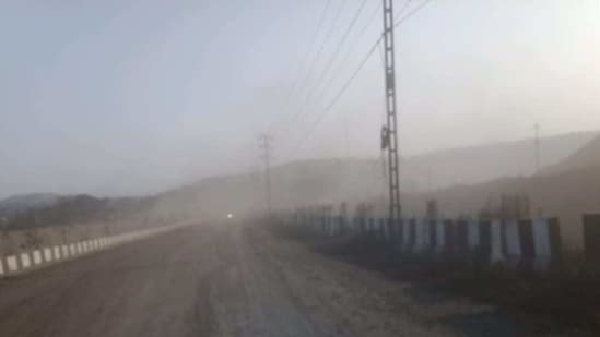 Coal pollution in the area(HT Photo)