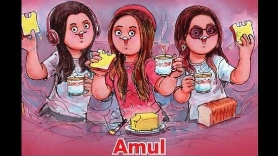 The cartoon was shared on Twitter and Instagram by Amul India.(Instagram/@amul_india)