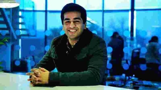 Kavin Bharti Mittal, son of Airtel's Sunil Mittal in his office in Gurgaon. His startup, Hike Messenger has raced to a $1.4 billion valuation within 3 years of inception.(HT Archive)