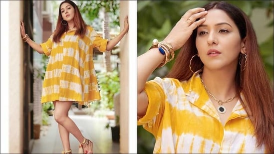 Mommy-to-be Neeti Mohan slays maternity fashion in a sultry tie-dye dress(Instagram/neetimohan18)