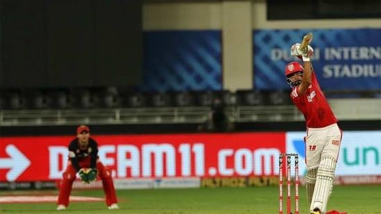 KL Rahul in action against RCB last IPL. (Punjab Kings/Twitter)