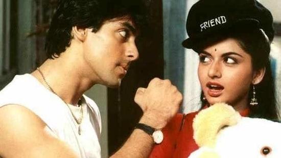Salman Khan and Bhagyashree starred together in the 1989 blockbuster Maine Pyaar Kiya.