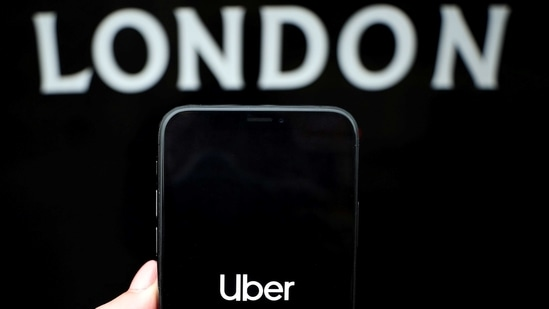 The Uber logo is displayed on a mobile phone in this picture illustration taken November 25, 2019.(REUTERS/File Photo)