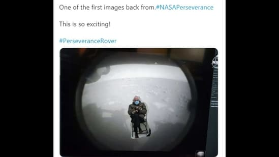 Memes based on Perseverance rover's first images from Mars have left people chuckling hard.(Twitter/@ZombieDad2021)