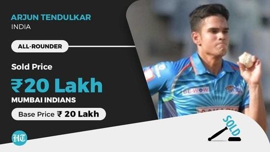 Arjun Tendulkar was picked up by Mumbai Indians in IPL 2021 auction