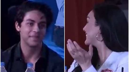 Aryan Khan filled in for his dad Shah Rukh Khan at the IPL auction.