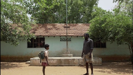 Pebbles, about an alcoholic man and his little son, is set in a drought-struck village near Madurai . (Image courtesy Rowdy Pictures)
