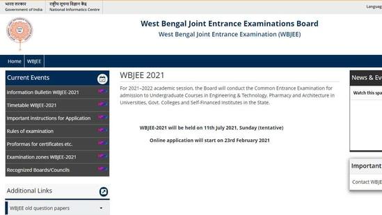 WBJEE 2021 registration.(Screengrab)