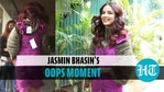 Jasmin Bhasin spotted in purple dress with price tag still on