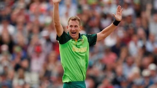 South Africa's Chris Morris celebrates the wicket of South Africa's Tom Latham.(Action Images via Reuters)