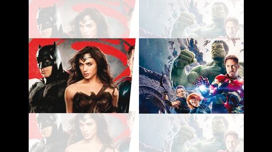 DC's characters include Batman, Superman and Wonder Woman while Marvel's are Spider-Man and Black Widow among others