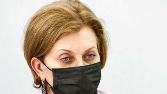 """Anna Popova,praised """"the important scientific discovery,"""" saying """"time will tell"""" if the virus can further mutate. (Dmitry Astakhov, Sputnik, Government Pool Photo via AP)(AP)"""