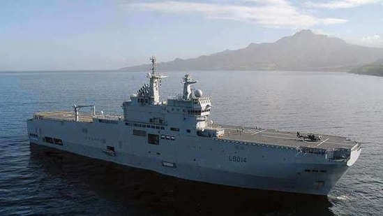 """Capt Arnaud Tranchant, commanding officer of the Tonnerre, told Naval News that the French navy would """"work to strengthen"""" France's partnership with the US, Japan, India and Australia - Quad.(@florence_parly/Twitter)"""
