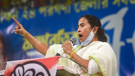 Ahead of the Assembly election, Trinamool Congress released its new slogan on Saturday.(PTI)