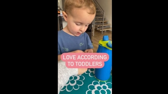 """The image is taken from the video which has now left people saying """"Aww.""""(Instagram/@deenadventures)"""