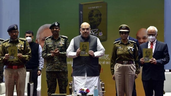 The minister said it is a matter of pride that all proud moments in the history of CRPF in the last 82 years have been recorded in the book.(HT )