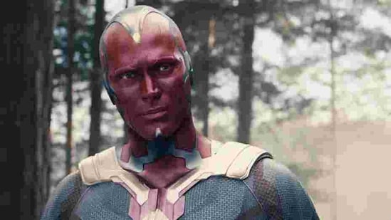 Paul Bettany as The Vision in Avengers.