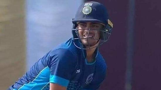 Ishan Kishan slammed 173 off 94 balls against Madhya Pradesh in Vijay Hazare Trophy(Twitter)