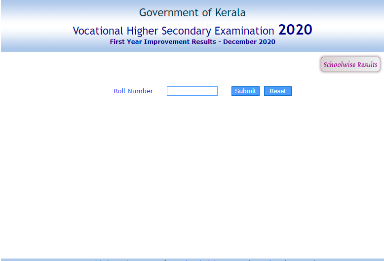 Kerala Vocational Higher Secondary Examination (VHSE) First Year Improvement Results was announced on Saturday.(keralaresults.nic.in)