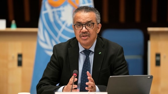WHO director-general Tedros Adhanom Ghebreyesus repeated a call to bolster public health measures against Covid-19 and prepare to distribute vaccines.(via REUTERS)