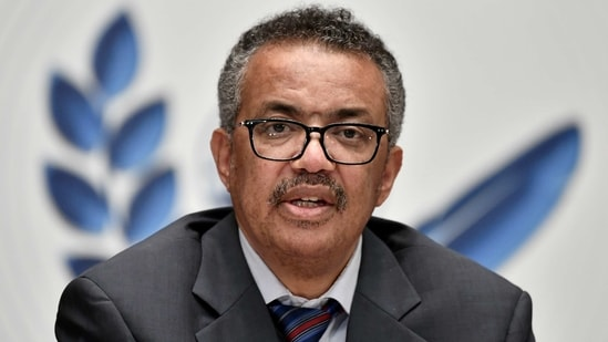 WHO Director-General Tedros Adhanom Ghebreyesus attends a news conference amid the COVID-19 outbreak.(REUTERS/ File Photo)
