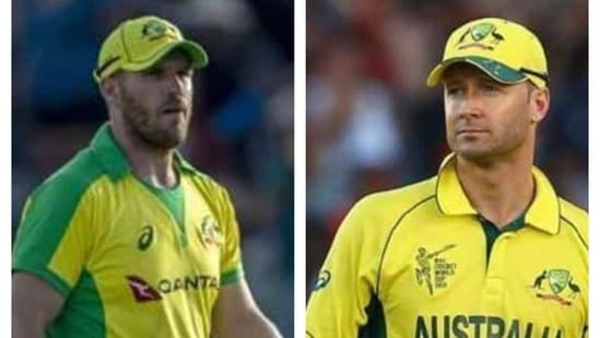 Aaron Finch and Michael Clarke.(File)