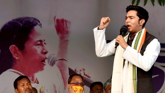 In the run-up to the elections, Abhishek Banerjee's name has been dragged into an alleged coal theft case. (PTI)