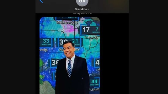 The image shows meteorologist Albert Ramon.(Twitter/@AlbertRamonTV)