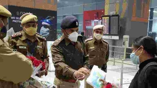 A passenger at Delhi's IGI airport
