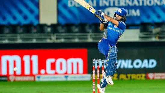 Ishan Kishan hits a fifty. (IPL/Twitter)