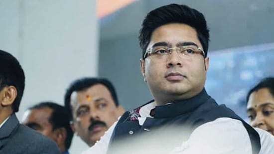 TMC MP Abhishek Banerjee, nephew of West Bengal Chief minister Mamata Banerjee questioned PM Modi and BJP in his first public meeting in 8 months.(PTI)