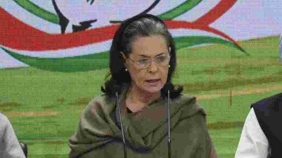 Congress president Sonia Gandhi. (Vipin Kumar/HT PHOTO)