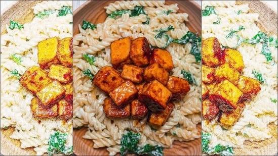 Recipe: Enjoy a cosy Sunday evening with Creamy Coconut Pasta and Crispy Tofu(Instagram/earthofmariaa)
