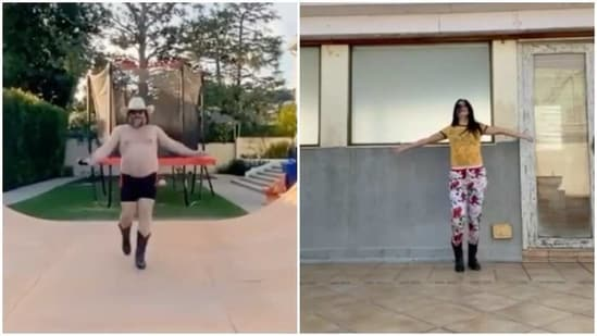 Katrina Kaif has shared a video of herself, recreating Jack Black's moves.