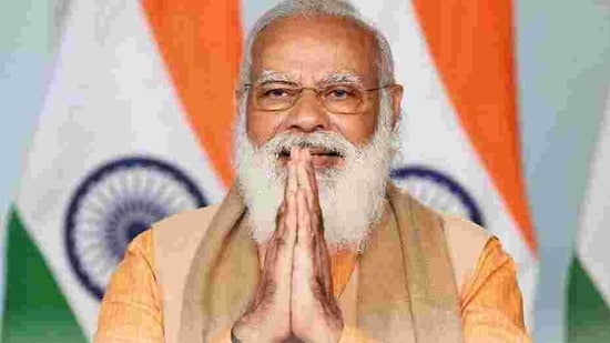 The prime minister is also scheduled to hold a public meeting at Dunlop Maidan in Hooghly.(Twitter/narendramodi)