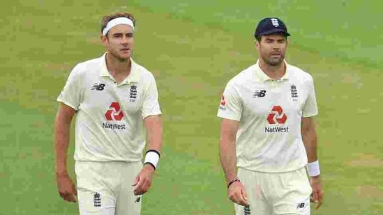 England's Stuart Broad and James Anderson walk off(Reuters)