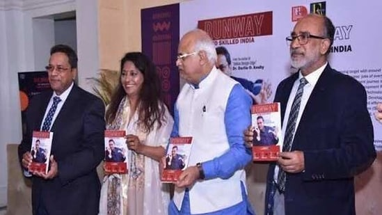 The launch of the book comes after a Webinar that featured an array of experts from skill space as well as from Textile-Apparel and other allied Industries who had explored the 'Future of Jobs & Skills'.(ANI )