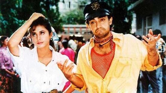 Urmila Matondkar and Aamir Khan in Rangeela.
