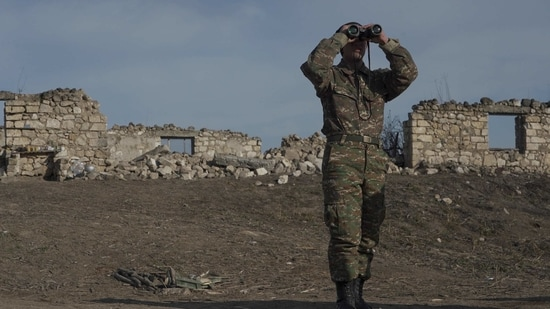 Ethnic Armenian troops in the Nagorno-Karabakh region ceded swathes of territory in and around the enclave to Azerbaijan REUTERS/Artem Mikryukov(REUTERS)