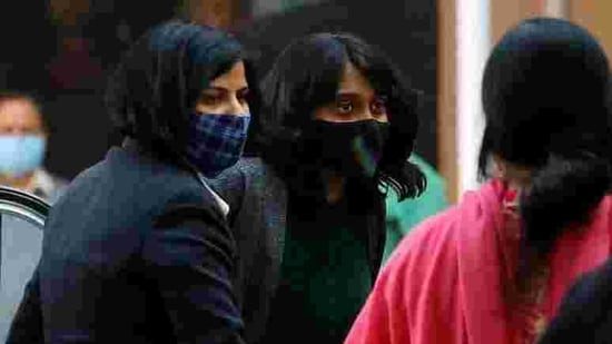 Ravi was produced at the end of her three-day judicial custody. The police had sought a remand for five days to confront Ravi with Jacob and Muluk.(Reuters Photo)