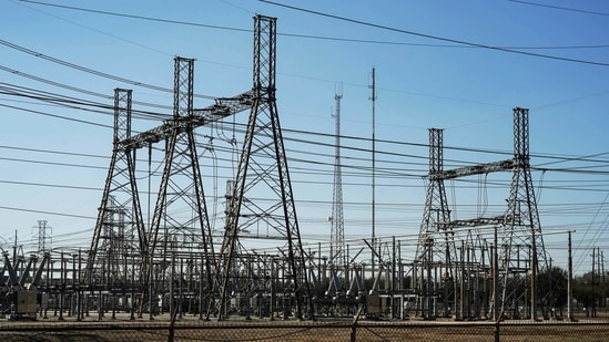 An electrical substation is seen after winter weather caused electricity blackouts in Houston, Texas, US.(File Photo / REUTERS)