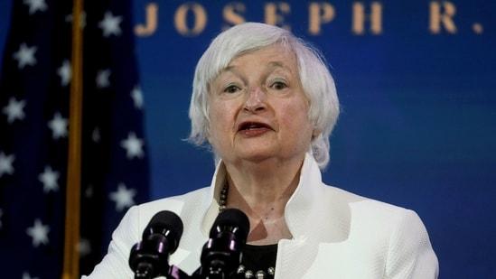 File photo of US Treasury Secretary Janet Yellen.(Reuters)