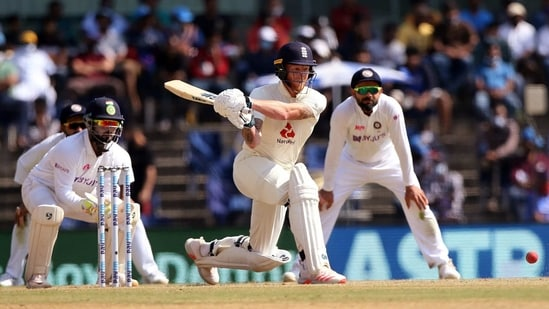 England's Ben Stokes bats during the 4th day of 2nd test match against England at MA Chidambaram Stadium, in Chennai.((ANI Photo/ICC Twitter))