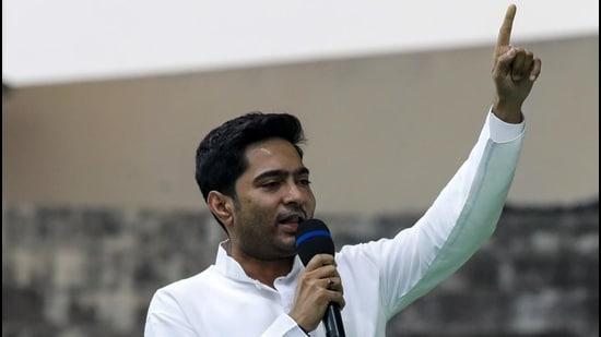West Bengal chief minister Mamata Banerjee's nephew and Trinamool Congress party leader Abhishek Banerjee. (AP)