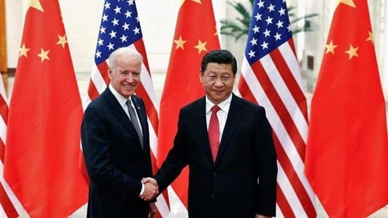 A file photo of Chinese President Xi Jinping shaking hands with Joe Biden (left), the then US vice-president, in Beijing in December 2013. (REUTERS)(HT_PRINT)
