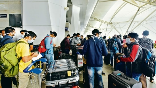Indian airports saw 15.79 mn passengers in December.ht(MINT_PRINT)