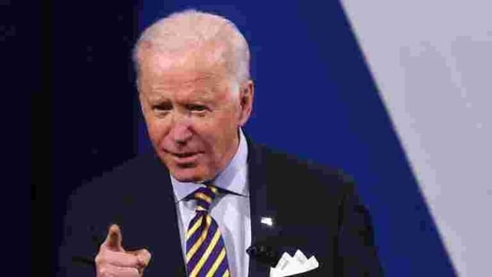 A file photo of US President Joe Biden participating in a CNN town hall in Milwaukee, US. (REUTERS)