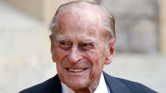 "Prince William said on February 22, 2021 that his 99-year-old grandfather Prince Philip is doing ""OK"" after spending nearly a week in hospital.(AFP)"