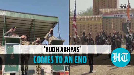 The closing ceremony of Indo-US joint military exercise 'Yudh Abhyas'