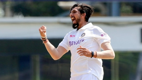 India's Ishant Sharma celebrates his wicket.(PTI/File)
